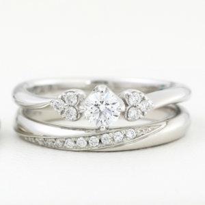 結婚指輪と婚約指輪の重ね着け