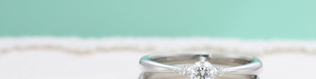 婚約指輪と結婚指輪の重ねつけ