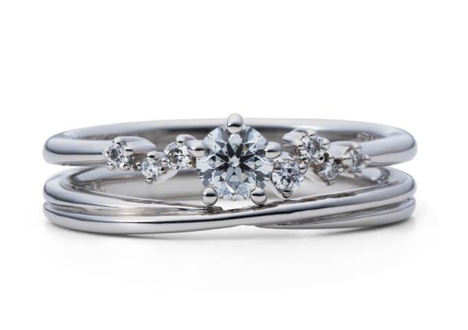 星の砂婚約指輪カペラ