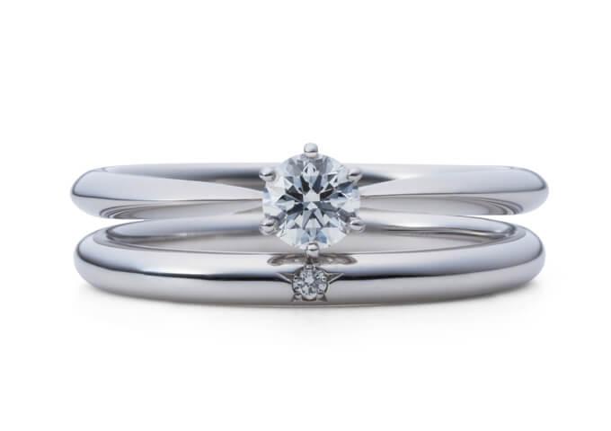 星の砂婚約指輪スピカ
