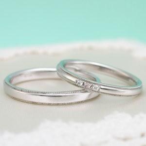 ピンクダイヤモンド結婚指輪