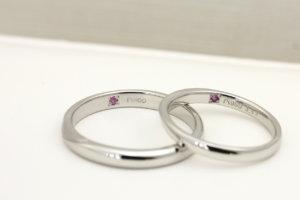 結婚指輪_誕生石_ピンクサファイア