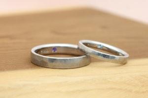 結婚指輪(槌目)ハンマー仕上げ