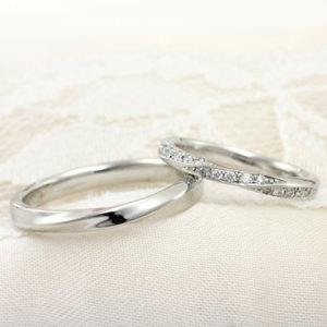 結婚指輪ウェーブデザイン