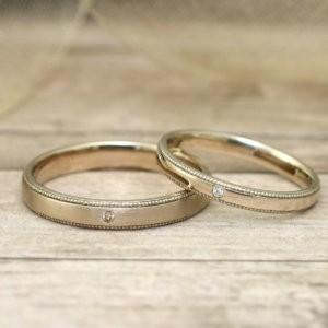 シャンパンゴールド結婚指輪