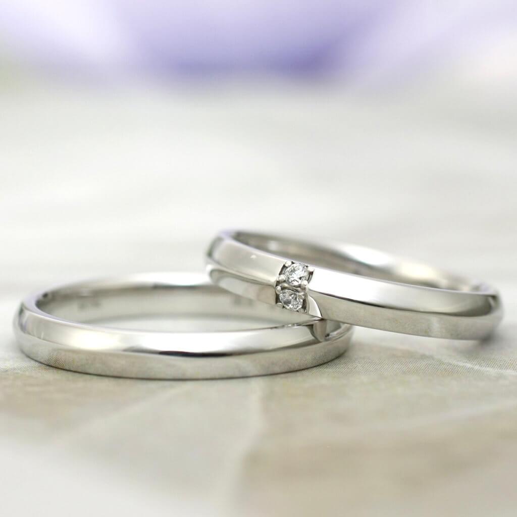 大人デザインの結婚指輪